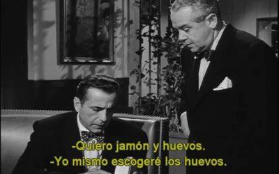 Desayunando con Humphrey Bogart