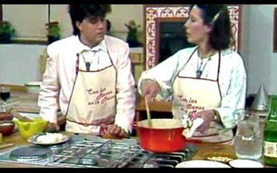 Empanada de pisto, bacalao y miel de avispa