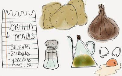 Un poco de cháchara junto a una ambiciosa receta de tortilla