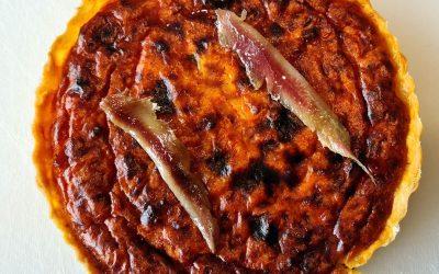 Tarta de pimientos rojos asados