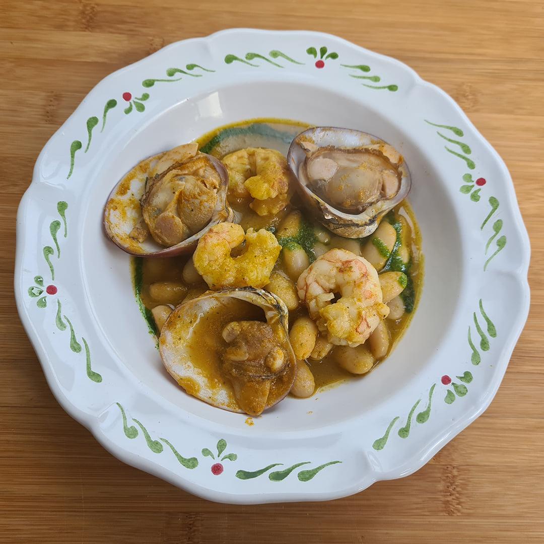 Porotos con almejas y langostinos en salsa verde - Un sitio de gastronomía - abril 2, 2021