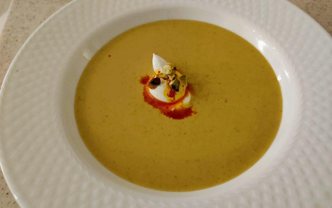 Sopa de pistachos