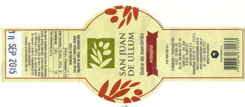 Dulce de membrillo San Juan de Ullum - Un sitio de gastronomía - agosto 26, 2015