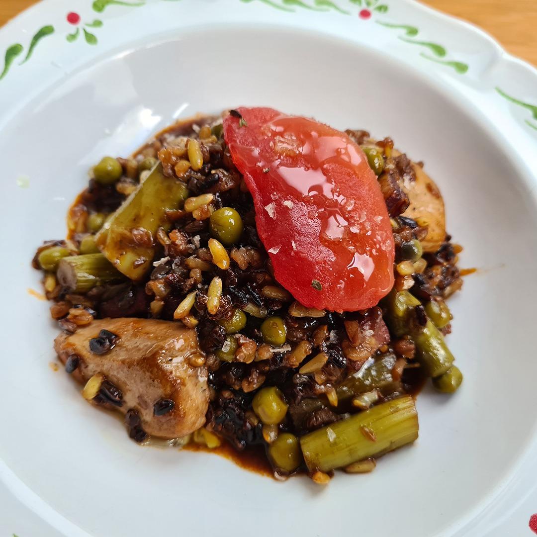 Arroz meloso con pollo de corral y verduras - Un sitio de gastronomía - septiembre 21, 2021